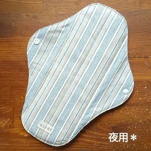 布ナプキン (夜用) ☆ リネンストライプ柄