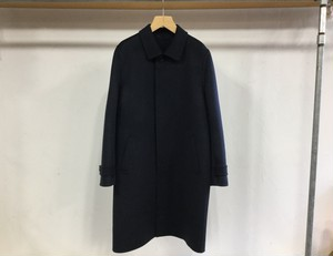 "niuhans""Double Face Soutein Collar Coat Navy"""
