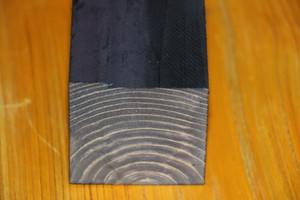 桧木材  染色黒  56*56*71mm
