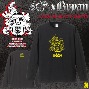 5884 END×BRYAN LONG SLEEVE TEE BLACK