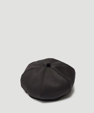 OUR LEGACY Herringbone Beret Black A4193BBH