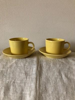 M様ご予約商品 北欧 ARABIA TEEMA ティーマ  コーヒーカップ&ソーサー  2点 ヴィンテージ