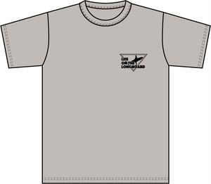 Life on the LongboadオリジナルTシャツ:デザインA(シルバーグレー)