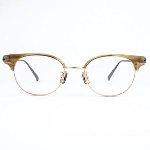 one/three compound frame ワンスリー メガネ cfs-01 / 10g ブラウンササ/ライトゴールド/アンティークブロンズ