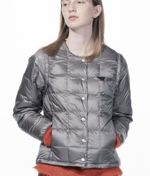 WOMENS TAION EXTRA CREW NECK INNER DOWN SET GREY