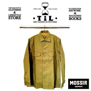 "MOSSIR/モシール 2020SS「Utility Shirts""Claus""/ユーティリティーシャツ""クラウス""」(MOST001) GREEN"
