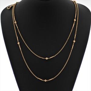 9K Gold Long Nacklace 9金 ゴールド ロングネックレス