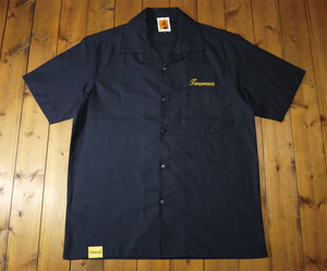 TOMORROWS  S/S  OPEN SHIRT <NAVY>