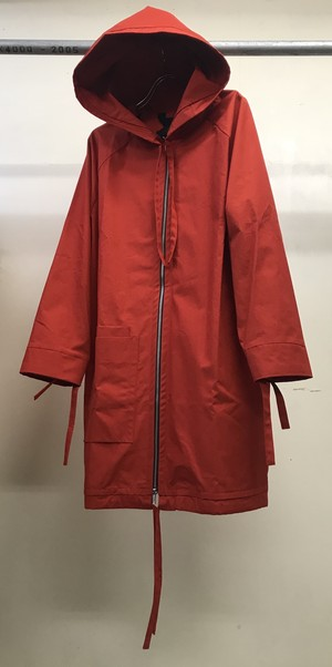 PHOEBE ENGLISH HOODED COAT VERMILION