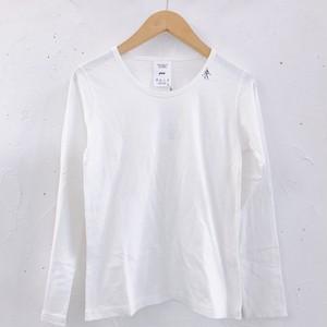 NATURAL LAUNDRY/マナプール天竺スキーヤー刺繍Tシャツ