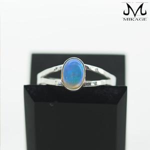 Opal Ring:銀925オパール槌目リング