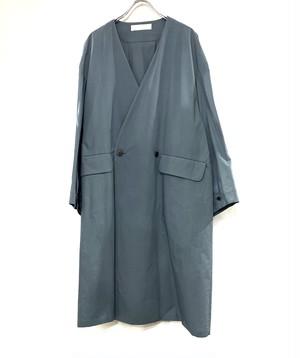 ETHOSENS No collar cotton shirt coat  lite Blu