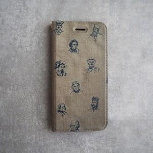 iPhoneケース ベルトなし手帳型 < ojisan >