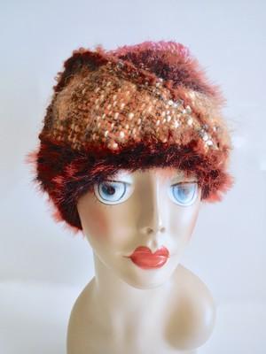 手織りのニット帽