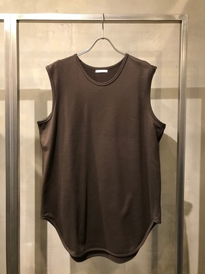 T/f sleeveless top - burnt