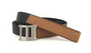 RE.ACT Buttero x Nylon Combi Belt Brown