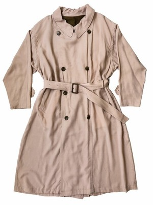 circa make scarf neck band wide trench coat / dusty pink (ladies)