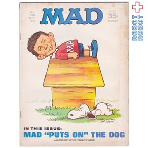 MAD MAGAZINE マッドマガジン no.138 スヌーピー ピーナッツギャング October 1970