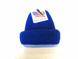 KNIT CAP MADE IN USA - BLUE