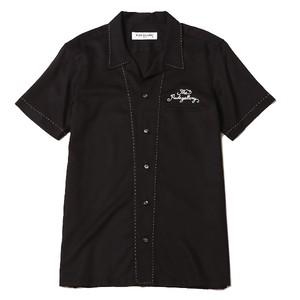 CHANGE OVER BOWLING SHIRT (BLACK/BLACK) / RUDE GALLERY