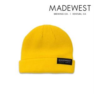メイドウエスト ニットキャップ MADE WEST Dock Beanie  /mw001-yellow