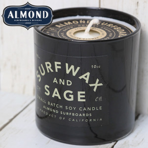 ALMOND アーモンド SURF WAX AND SAGE SOY CANDLE ソイキャンドル