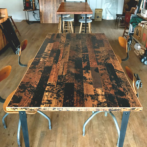 <In Stock>  Reclaimed Table Top  < Dripping >