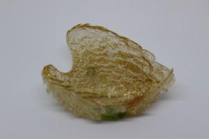 オルゴナイト ウィングトレイ型(ゴールド葉)