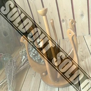 ≫70'sヴィンテージ*古い天然木製スワンのスリッパラック*ウッドスリッパスタンド*水鳥バード白鳥*ビンテージ北欧アンティーク昭和レトロ