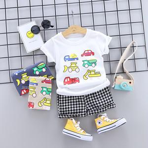 【baby】着心地いいファッション夏プリントセットアップ