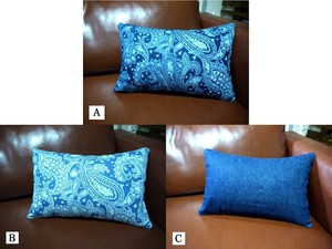 Cushion「Blue Paisley」