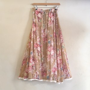 dusty floral skirt