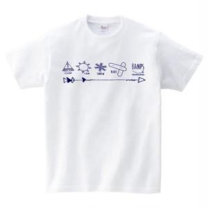SHORT SLEEVE Tshirt MK(1.White/Navy) bp-40