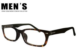 メガネ メンズ 9155-6-2 ウェリントン型 超軽量 TR素材 男性向け べっ甲 眼鏡 venus×2