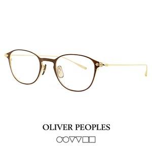 日本製 オリバーピープルズ OLIVER PEOPLES メガネ malden dbr MALDEN マルデン 眼鏡 ボストン ウェリントン メタル