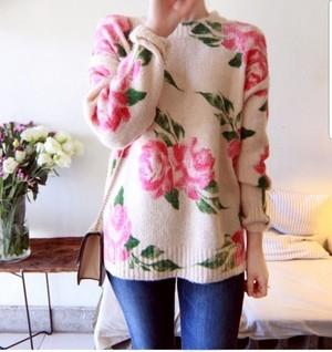 Romantic Flower Knit 3AW010-18 |インスタでも話題の海外セレブ系レディースファッション Carpe Diem