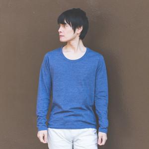 メンズカットソー/カジュアル/メンズ Tシャツ/無地Uネック/長袖ロンT
