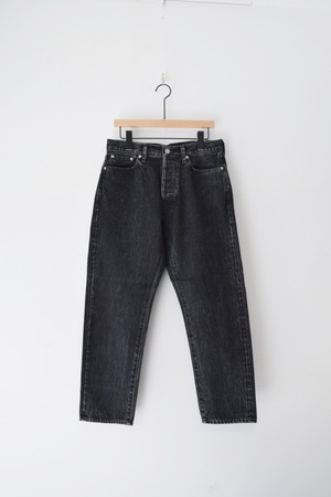 5P ANKLE BLACK DENIM USED/OM-P020B