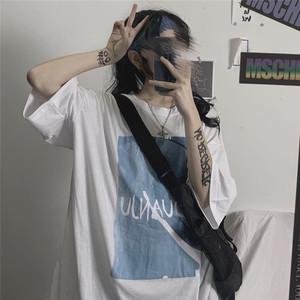 【トップス】原宿风レトロアルファベット配色半袖Tシャツ27313226