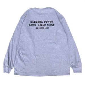 Reverse Original - GOOD VIBES ONLY Pocket L/S Tee - Grey