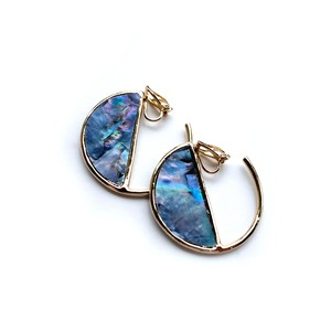 MAR Earrings GOLD/BLUE