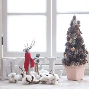 木の実たっぷりクリスマスツリー*テラコッタ