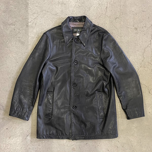 "90's ""Banana Republic"" Leather Coat"