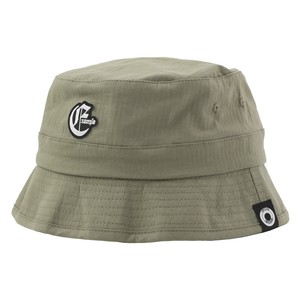 EXAMPLE OE LOGO BUCKET HAT / KHAKI
