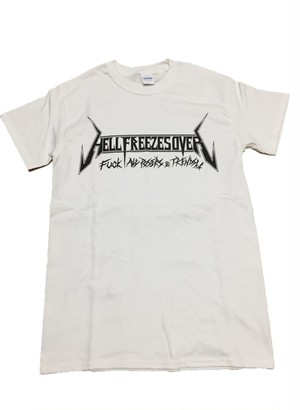 """FxxK ALL POSERS & TRENDS T-SHIRT""White"