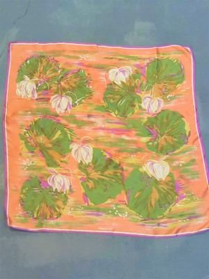 Flower painting scarf [C-426]2