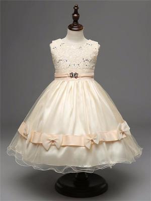 アンティーク調!リボンドレス☆ 白 ホワイト 100~140