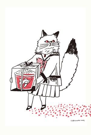 postcard 猫シリーズ たべたいプレゼント