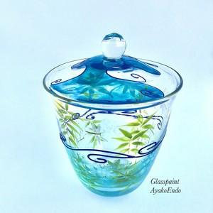 1点もの【ガラスの水差し】水鏡・トンボ|茶道・抹茶碗・還暦祝い・敬老の日・春のお茶会・春のおもてなし・オブジェ】