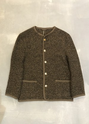 Boiled Wool Cardigan [G-943]